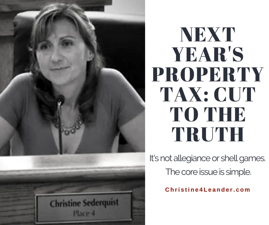 Next Year's Property Tax: Cut to the Truth